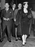 Senator and Mrs. Claude D. Pepper Arriving at Party Premium Photographic Print