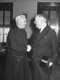 Senator David I. Walsh Greeting Archbishop Richard J. Cushing Premium Photographic Print