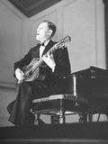 An Unidentified Musician Performing at a Concert Premium Photographic Print