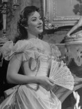 "Close-Up of Actress Greer Garson Performing in ""Mrs. Parkington"" Premium Photographic Print"