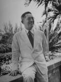 Vice President of Cuba, Dr. Gustavo Cuervo Rubio, Sitting Outside on the Balcony Premium Photographic Print