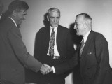 Vice President Henry A. Wallace Shaking Hands with Laughlin Currie as Sen. Arthur Clapper Looks On Premium Photographic Print