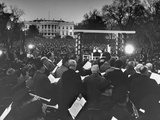 People Crowding around to Hear the Chior Sing and to Hear Harry S. Truman's Speech Premium Photographic Print