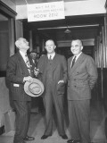Majority Stockholder Edwarden Claughton at Meeting of Directors of the Miss.-Kansas-Texas Railroad Premium Photographic Print