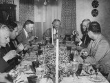 President Harry S. Truman Smiling at Dinner Given by Mayor Roger T. Sherman Premium Photographic Print
