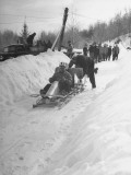 A View of a Bobsled Race Premium Photographic Print