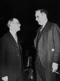 US Representative John McCormack Talking with Head Doorkeeper of the US House of Representatives Premium Photographic Print