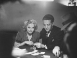 Blackjack Game in Progress at Las Vegas Club Premium Photographic Print