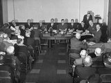 President Benjamin F. Fairless and the Board of Directors Holding a Stockholders Meeting Premium Photographic Print