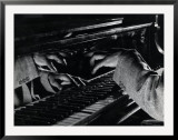 Hands of Jazz Pianist Eddie Heywood on Keyboard During Jam Session Framed Photographic Print by Gjon Mili