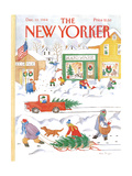 The New Yorker Cover - December 10, 1984 Regular Giclee Print by Anne Burgess