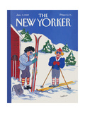 The New Yorker Cover - January 9, 1989 Regular Giclee Print by Barbara Westman