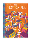 The New Yorker Cover - January 8, 1927 Premium Giclee Print by Ilonka Karasz