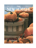 The New Yorker Cover - November 4, 1991 Regular Giclee Print by Gretchen Dow Simpson