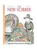 The New Yorker Cover - November 27, 1989 Regular Giclee Print by Edward Koren