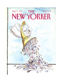 The New Yorker Cover - August 13, 1990 Regular Giclee Print by Ronald Searle