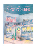 The New Yorker Cover - December 7, 1987 Giclée-Druck von Iris VanRynbach