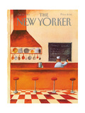 The New Yorker Cover - January 10, 1983 Regular Giclee Print by Abel Quezada