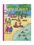 The New Yorker Cover - January 20, 1992 Regular Giclee Print by Barbara Westman