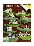 House & Garden Cover - August 1940 Regular Giclee Print by Robert Harrer