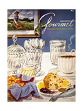 Gourmet Cover - November 1952 Regular Giclee Print by Henry Stahlhut