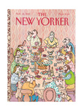 The New Yorker Cover - November 28, 1983 Regular Giclee Print by William Steig