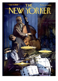 The New Yorker Cover - January 4, 1958 Reproduction procédé giclée par Arthur Getz