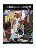 House & Garden Cover - March 1934 Regular Giclee Print by Georges Lepape