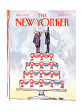 The New Yorker Cover - February 19, 1990 Regular Giclee Print by Robert Weber