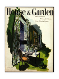 House & Garden Cover - October 1946 Regular Giclee Print by Tom Martin