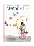 The New Yorker Cover - April 17, 1971 Regular Giclee Print by Ronald Searle