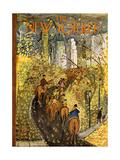 The New Yorker Cover - October 9, 1954 Regular Giclee Print por Ludwig Bemelmans