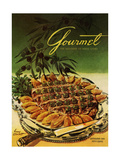 Gourmet Cover - September 1954 Regular Giclee Print by Henry Stahlhut