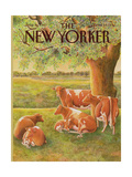 The New Yorker Cover - August 10, 1987 Regular Giclee Print by Jenni Oliver