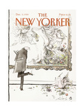 The New Yorker Cover - December 5, 1988 Regular Giclee Print by Ronald Searle