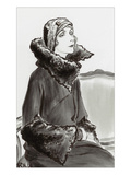 Vogue - January 1930 Regular Giclee Print by René Bouét-Willaumez
