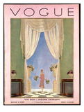 Vogue Cover - August 1928 Giclee Print by Pierre Brissaud