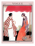 Vogue Cover - July 1922 Regular Giclee Print by Helen Dryden