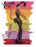 Vogue Cover - September 1939 - Parisian Rainbow Giclee Print by Christian Berard
