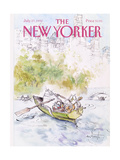 The New Yorker Cover - July 27, 1992 Giclee Print by Ronald Searle