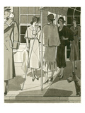 Vogue - April 1930 Regular Giclee Print by Pierre Mourgue