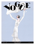Vogue Cover - March 1930 Giclee Print by Georges Lepape
