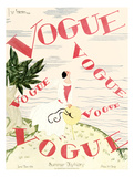 Vogue Cover - June 1924 - En Vogue Giclee Print by Georges Lepape