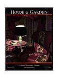 House & Garden Cover - September 1928 Regular Giclee Print by Pierre Brissaud