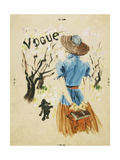 Vogue - April 1938 Giclee Print by René Bouét-Willaumez