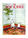The New Yorker Cover - February 16, 1976 Regular Giclee Print by George Booth
