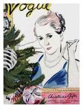 "Vogue Cover - December 1934 Giclee Print by Carl ""Eric"" Erickson"