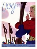 Vogue Cover - December 1933 Regular Giclee Print by Jean Pagès