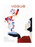 Vogue Cover - September 1929 Regular Giclee Print by Pierre Mourgue