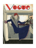 Vogue - March 1929 Regular Giclee Print by Pierre Mourgue